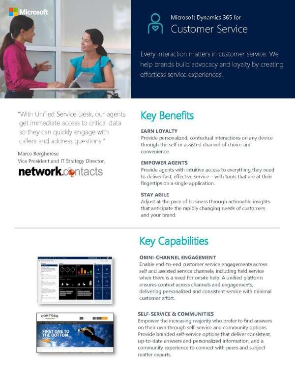 Microsoft Dynamics for Customer Service